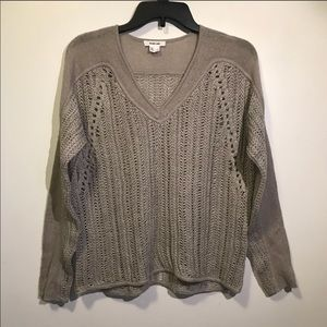 Helmet Lang knitted taupe Sweater size small